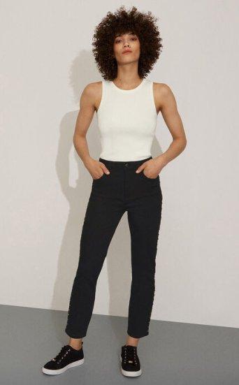 Slim Leg Studded Jean