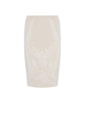 Falda de tubo bordado oriental