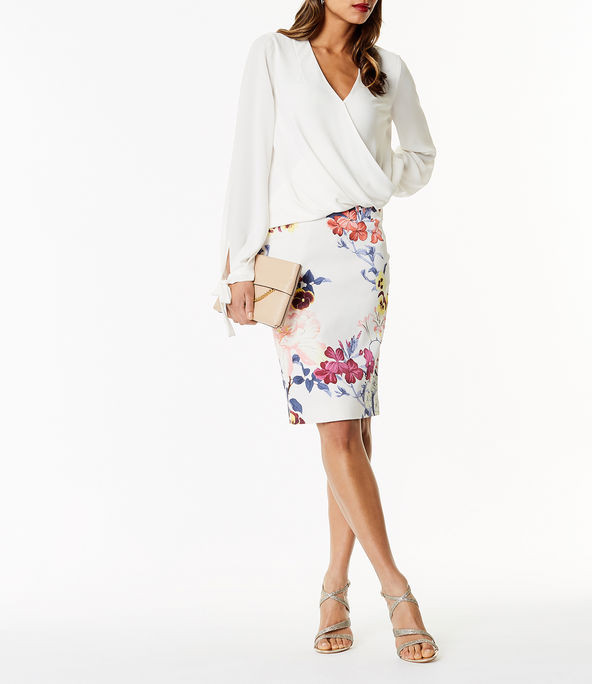 Falda tubo estampado floral