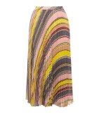 Falda plisada abstracta
