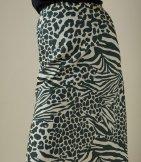 Falda midi estampado animal