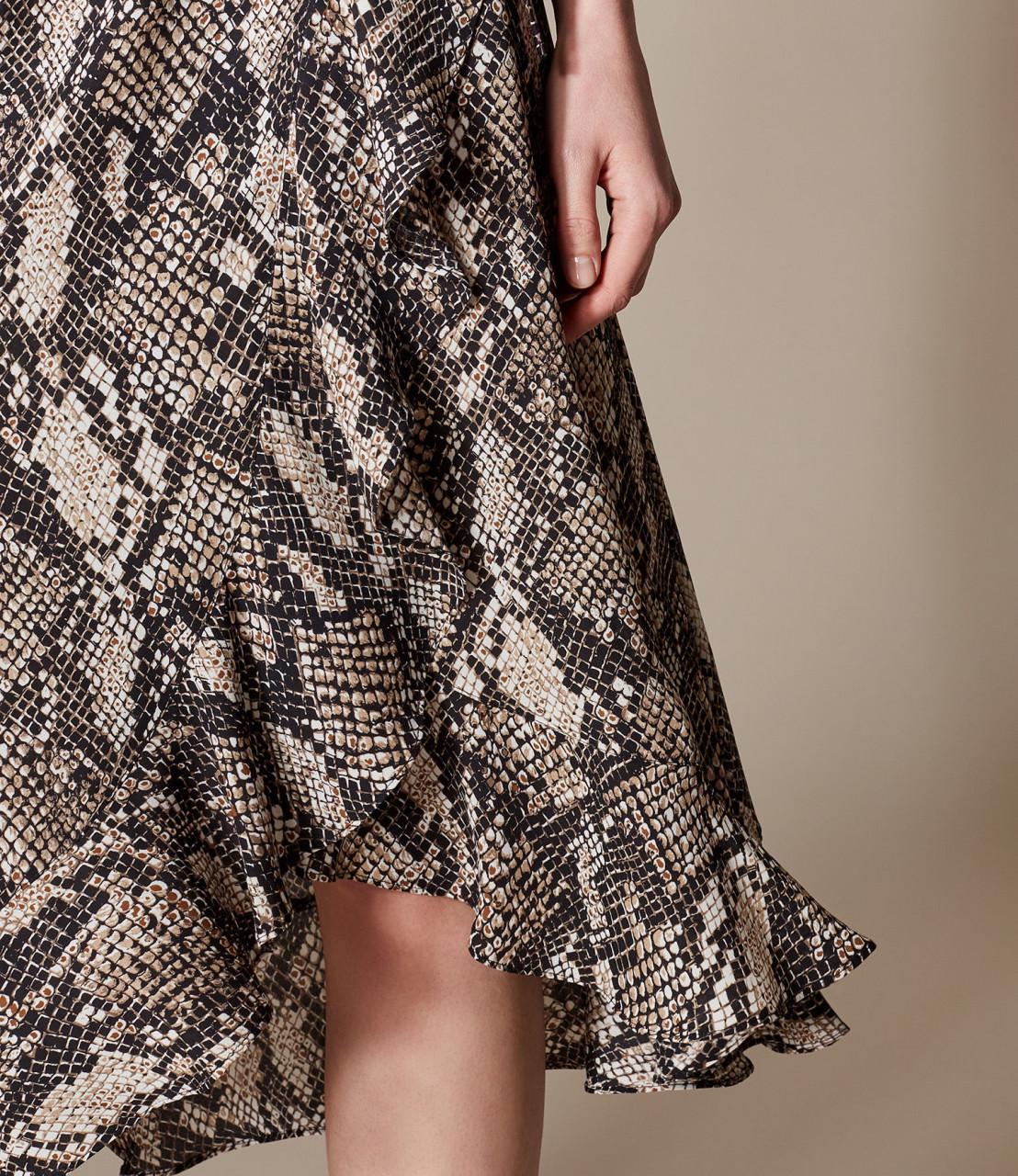 Falda midi estampado serpiente