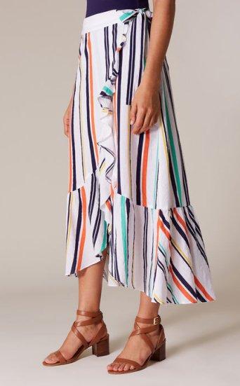 Falda cruzada rayas