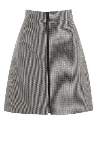 Graphic A-Line Skirt