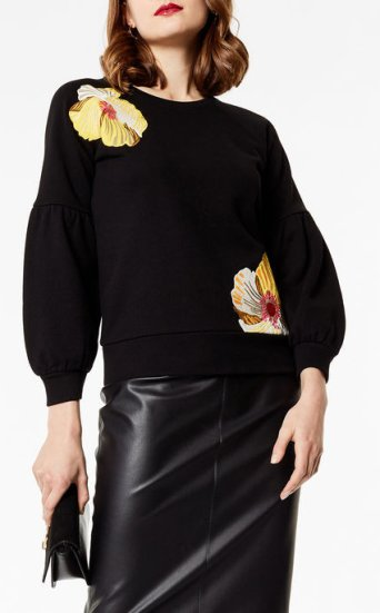 Sudadera bordado floral