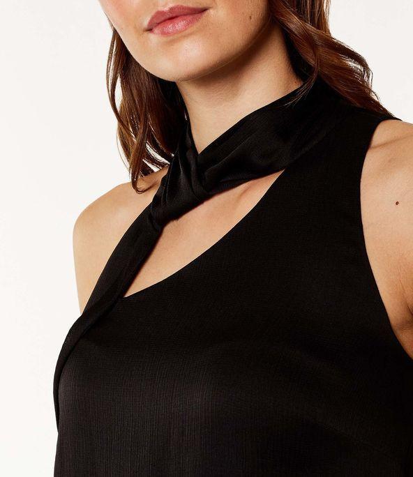 Top cuello halter asimétrico