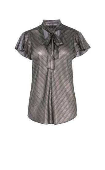 Camiseta rayas metalizada