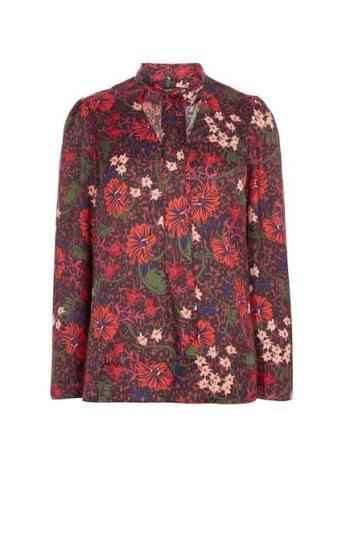 Blusa floral relajada