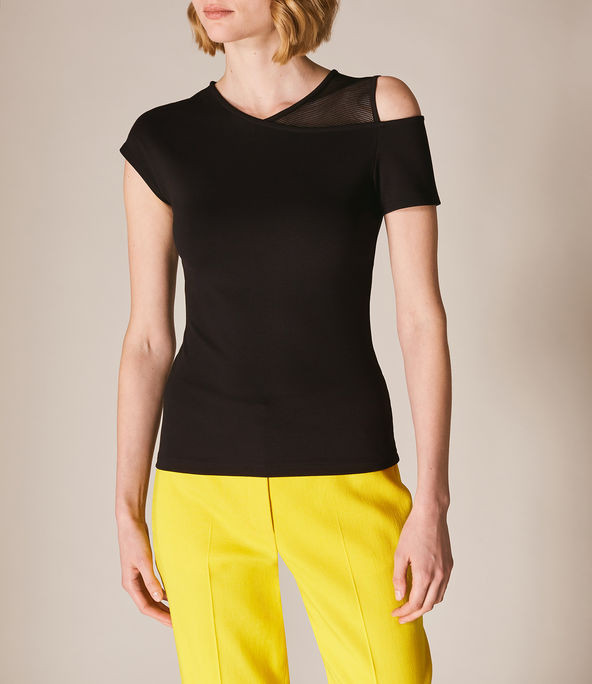 Camiseta asimétrica malla