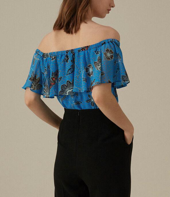 Floral Bardot Top