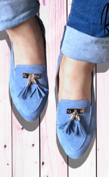 SLIPPERS COLOR AZUL