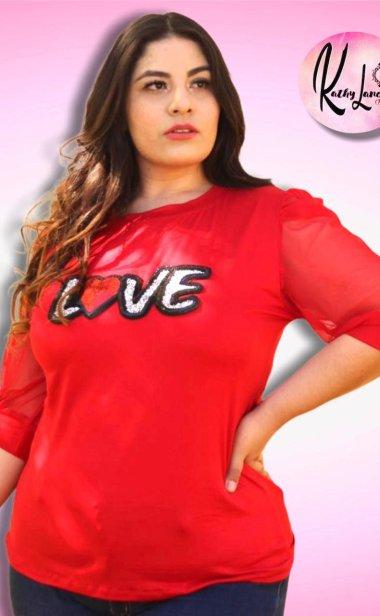 BLUSA LOVE ROJA