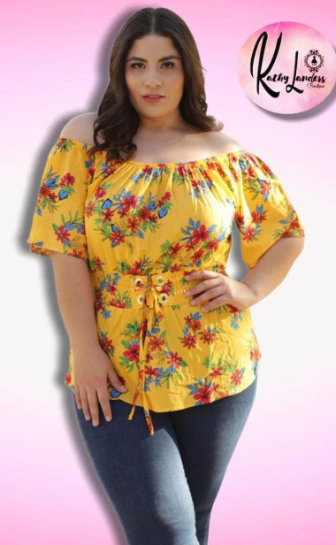 BLUSA OFF SHOULDER AMARILLA