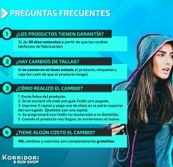 PREGUNTAS FRECUENTES - KORRIDORI RUNSHOP