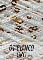 Lentejuela Blanca Oro