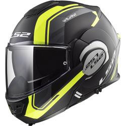 CASCO ABATIBLE LS2 VALIANT 180 DEGREES LINE NGO/MATE/AMA FF399