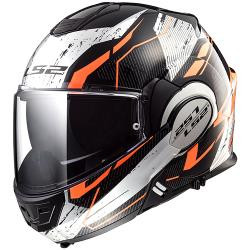 CASCO ABATIBLE LS2 VALIANT 180 DEGREES ROBOTO NGO/NJA/CROMO FF399