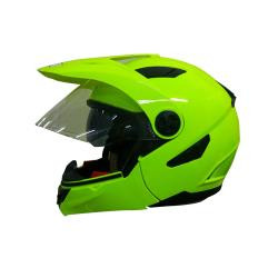 CASCO ABATIBLE R7 RACING MD-808 DOT AMARILLO/VERDE FLUORESCENTE