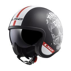 CASCO ABIERTO LS2 SPITFIRE INKY NGO/MATE/BCO