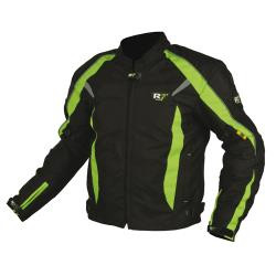CHAMARRA DEPORTIVA R7 RACING  VERDE R7-304 TEXTIL CON PROTECCION/IMPERMEABLE