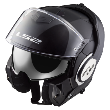 CASCO ABATIBLE LS2 VALIANT 180 DEGREES SOLID NGO/MATE FF399