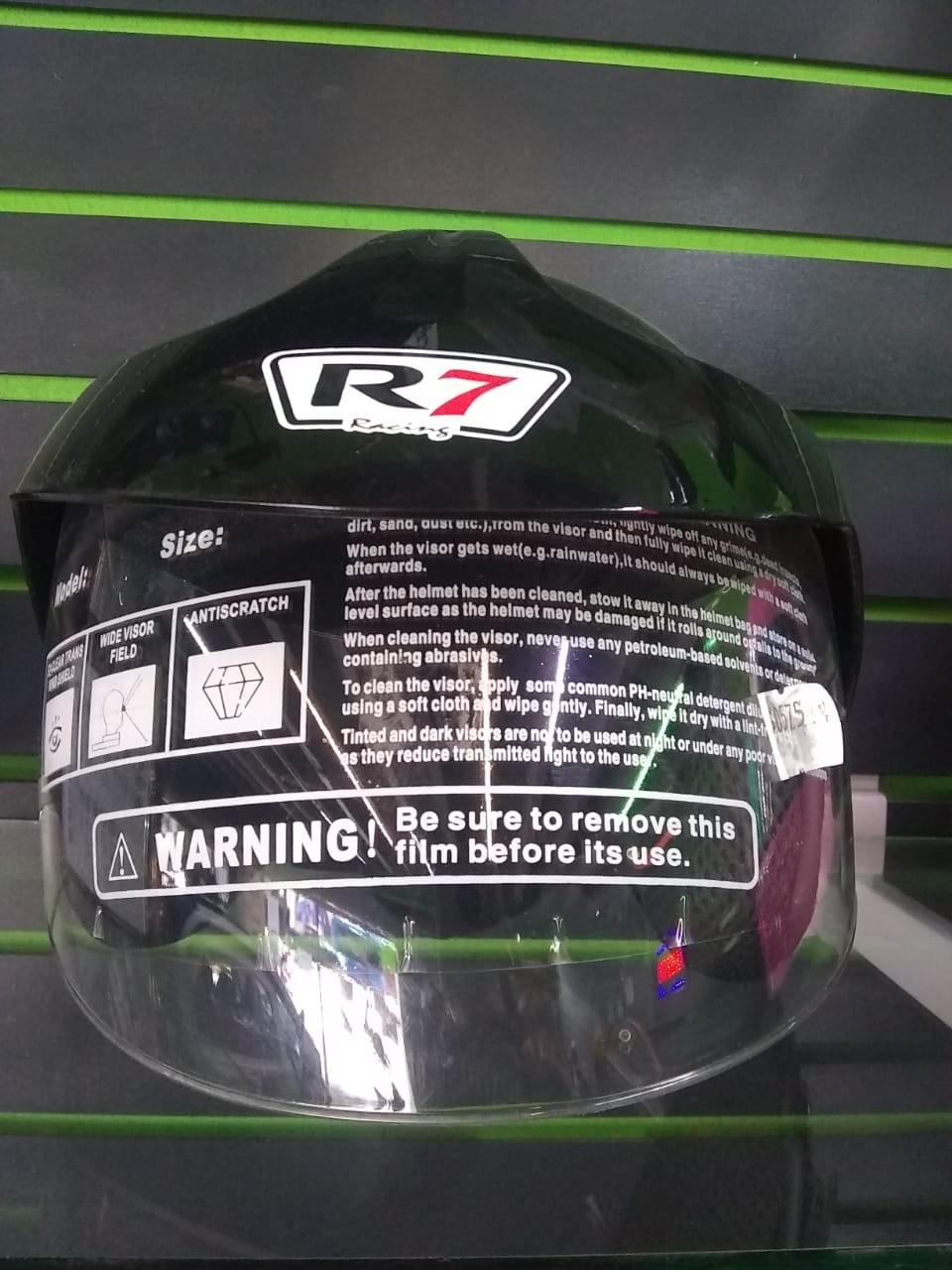 CASCO COLOR NEGRO R7 RACING