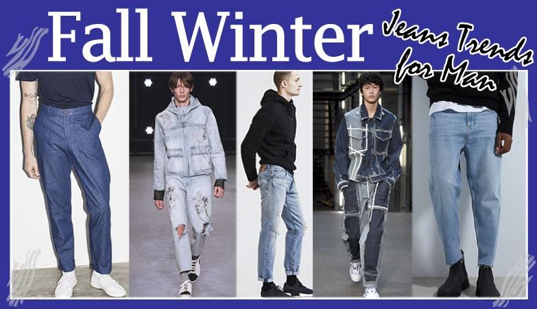 Fall winter Jeans man
