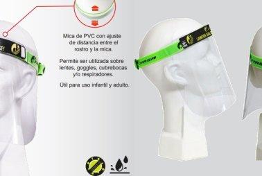 Protector facial con ajuste elástico en Equipo de protección individual PEINSA