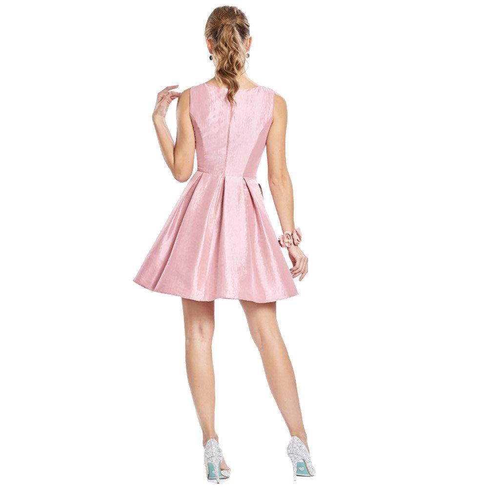 Antea vestido corto en acabado brillante y corte frontal con transparencia