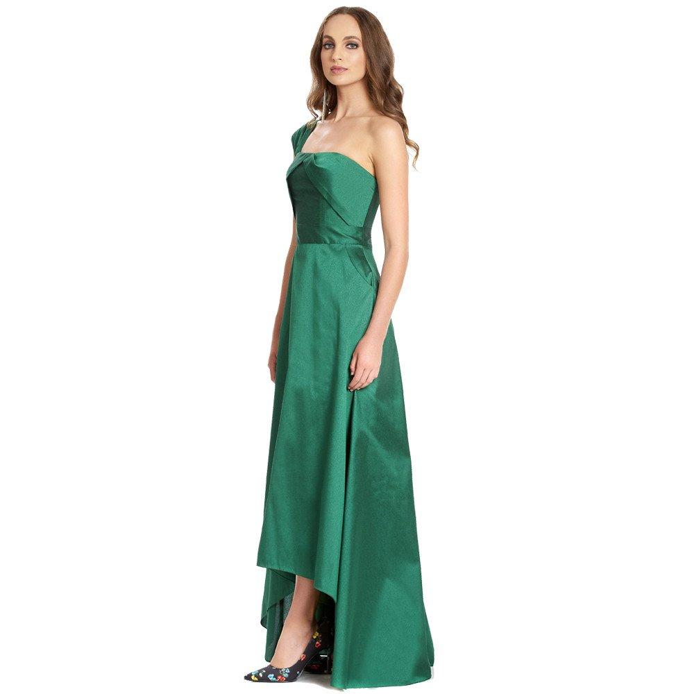 Sofía vestido largo asimétrico una manga