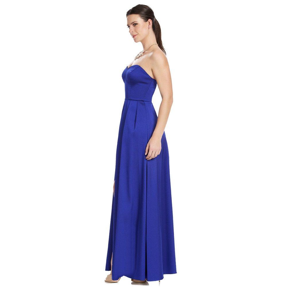 Lucía vestido largo con sobre falda escote corazón