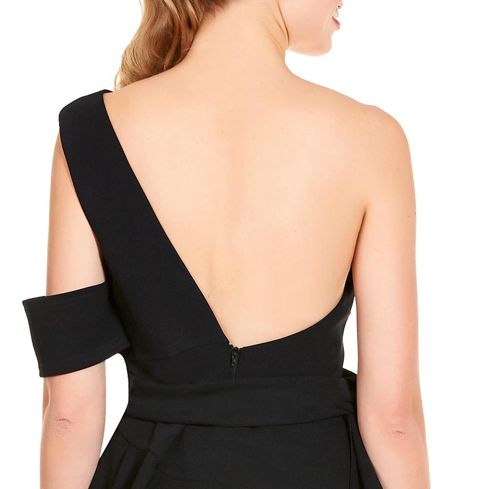 Alissa vestido corto un hombro espalda descubierta