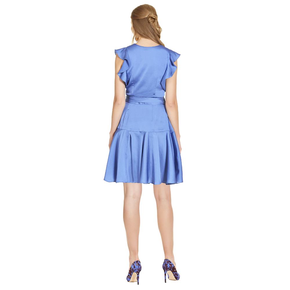 Aline vestido corto manga con olan
