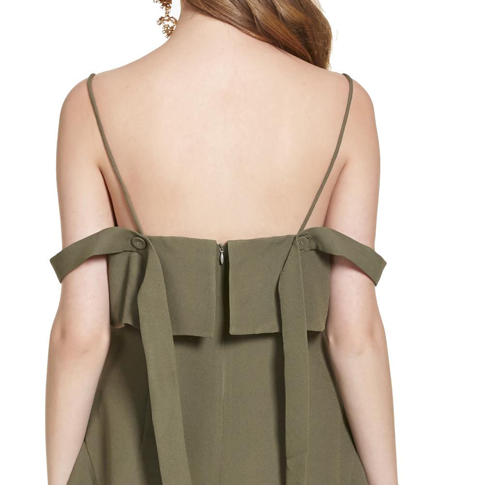 Alanis vestido corto tirantes y escote en espalda