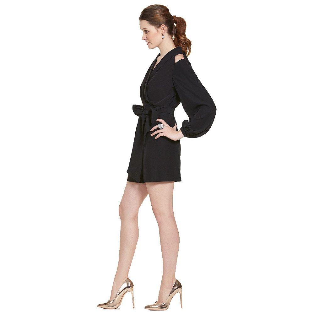 Dalia vestido corto manga larga hombro descubierto