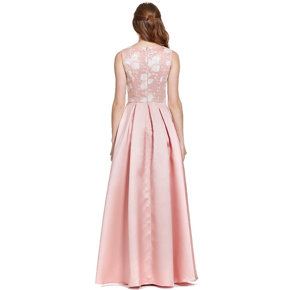 Giselle vestido largo malla en el escote