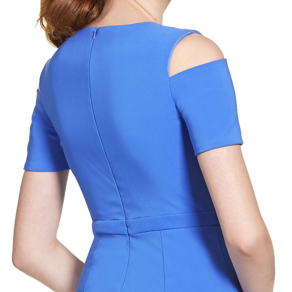 Angelina vestido largo asimetrico silueta sirena