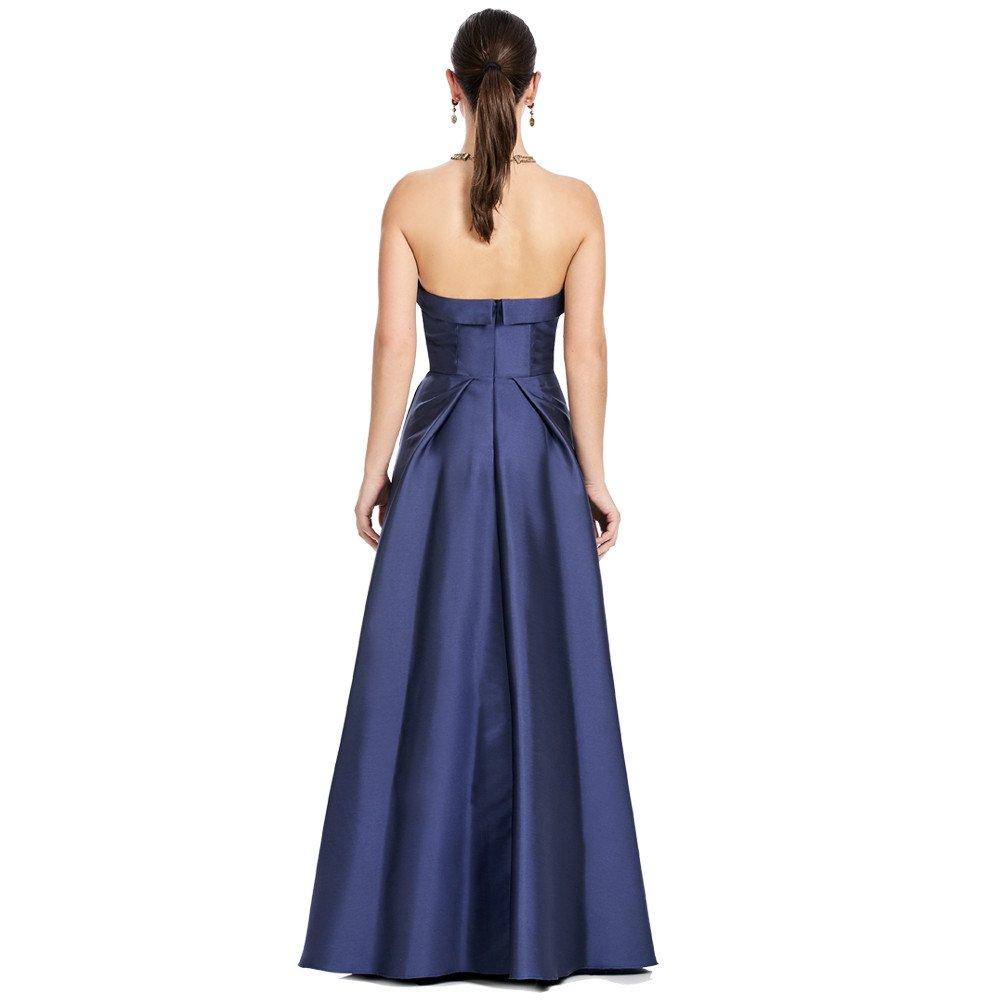 Antonella vestido largo strapless con transparencia