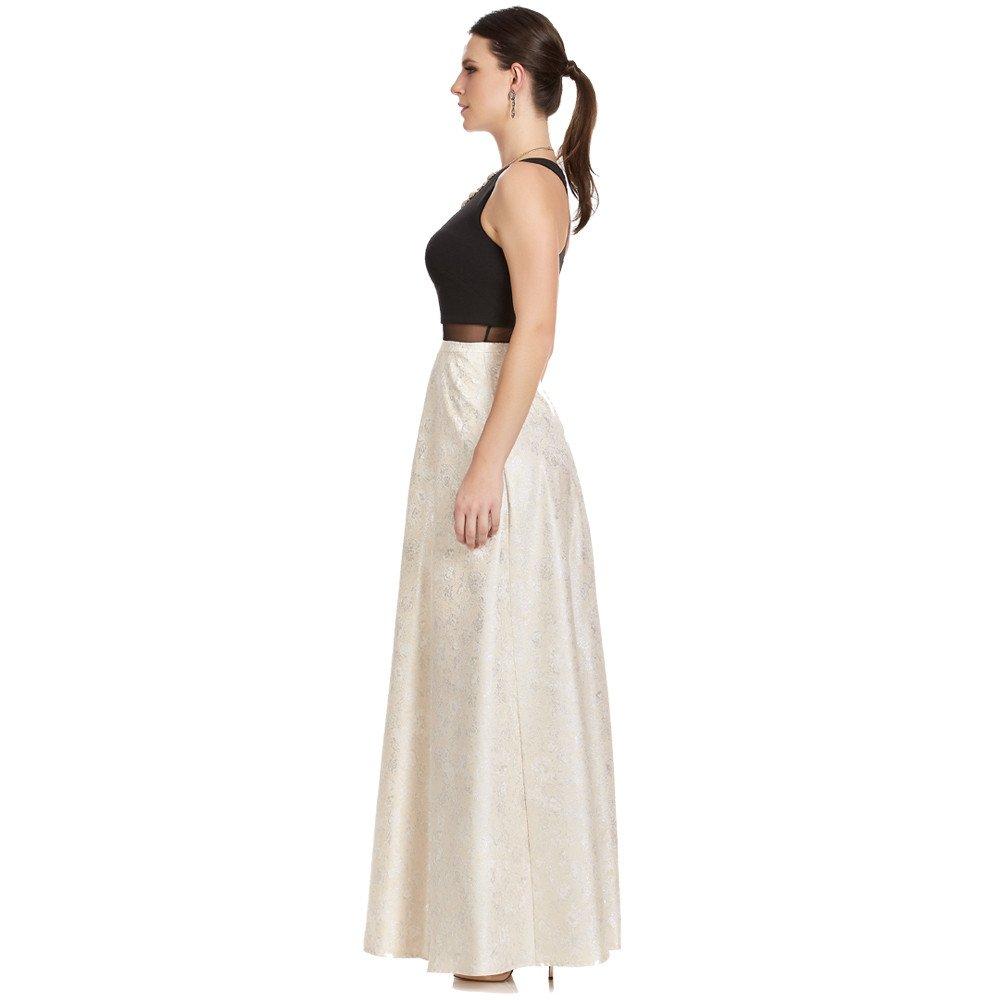 Samantha vestido largo con transparencia en cintura
