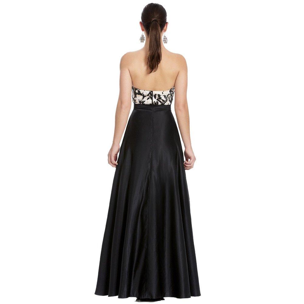 Darla vestido largo strapless escote corazón
