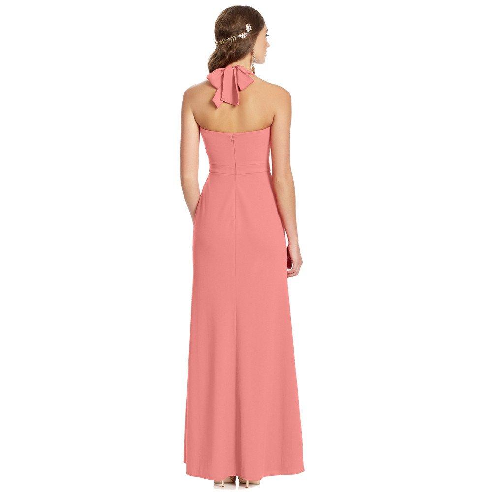 Cataleia vestido largo halter con amarre