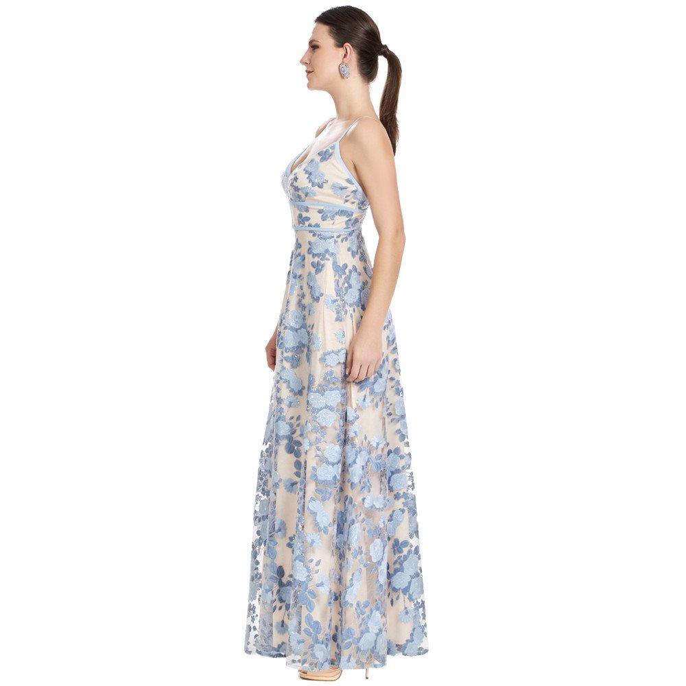 Alessia vestido largo tirantes delgados con escote en espalda