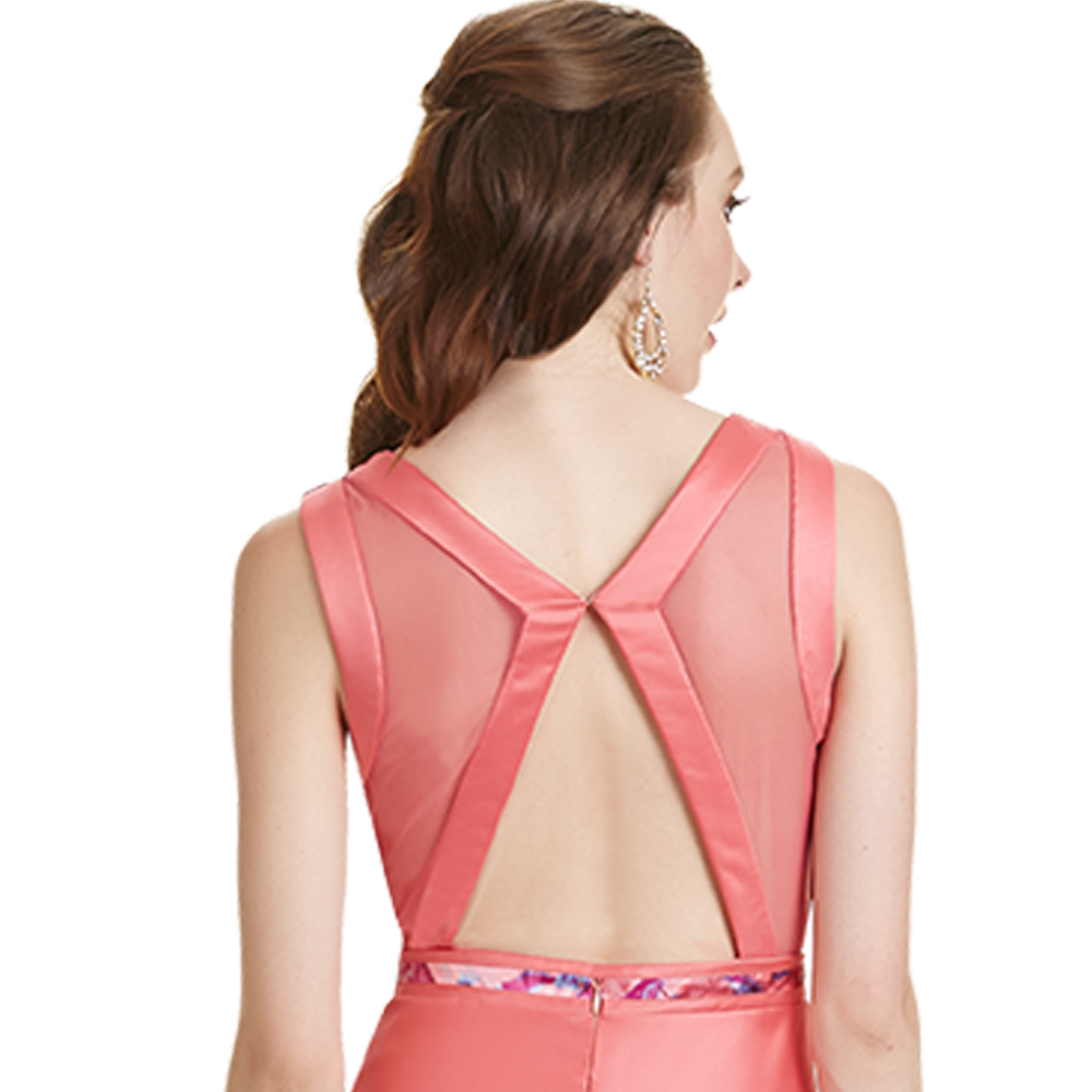Melania vestido largo espalda descubierta