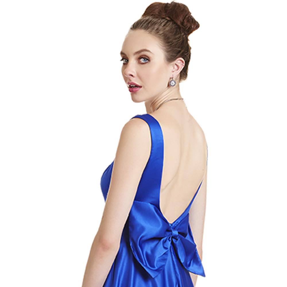 Sadie vestido largo con moño en espalda
