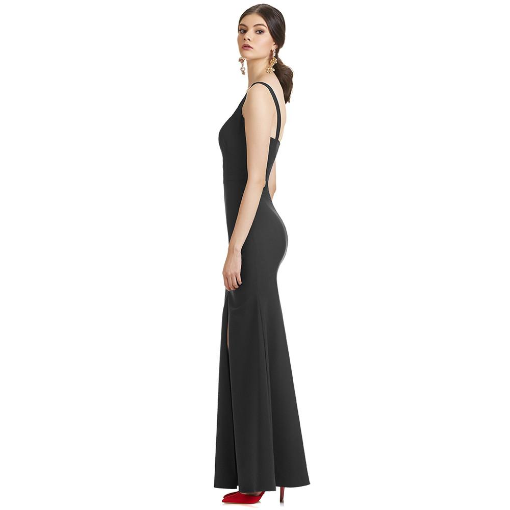 Geraldine vestido largo espalda descubierta
