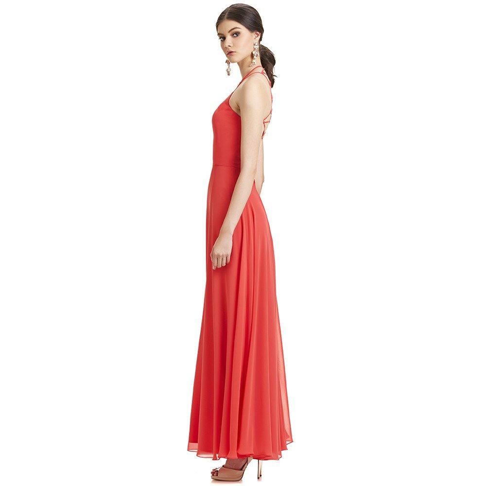 Bella vestido largo espalda descubierta