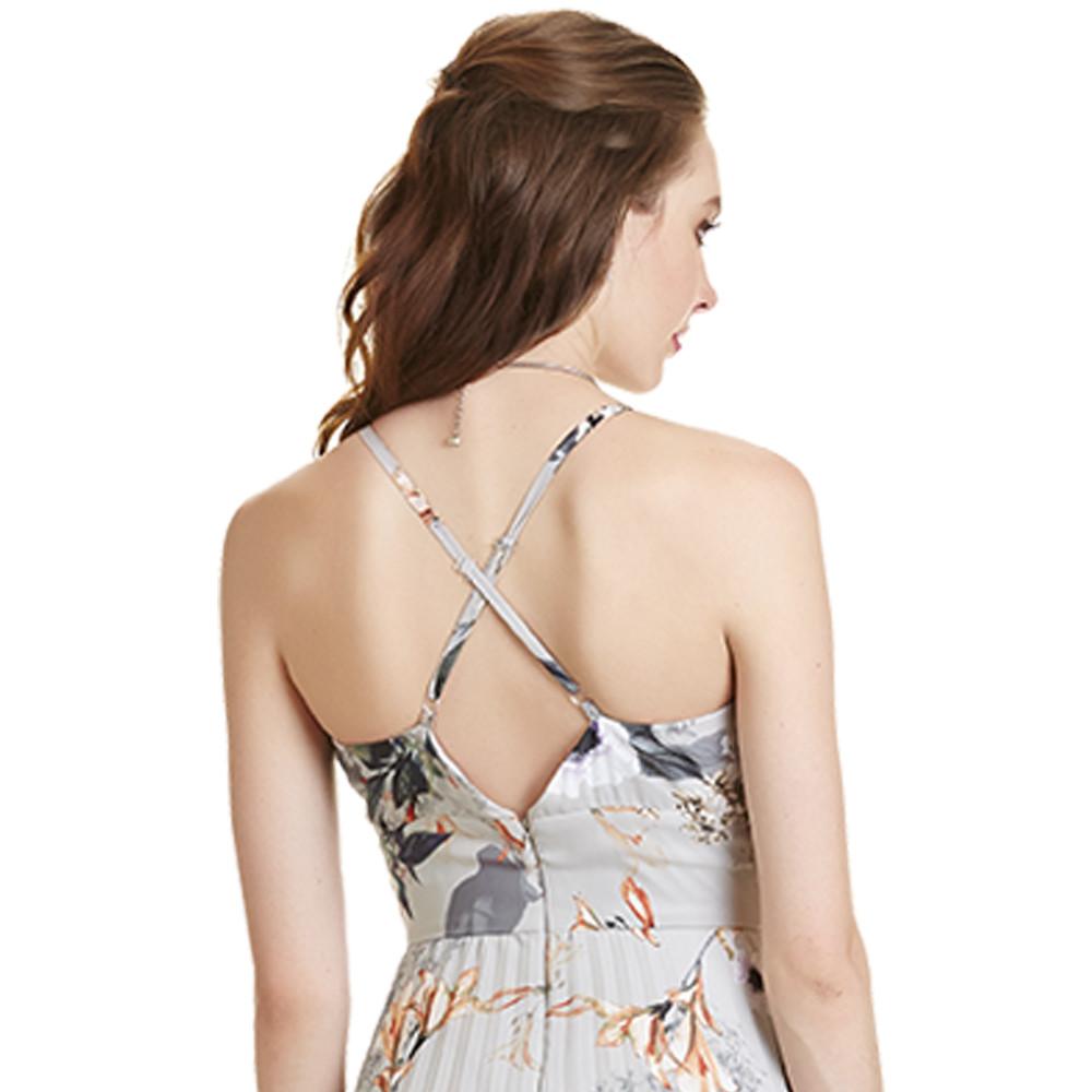 Anissa vestido largo tirantes cruzados en la espalda