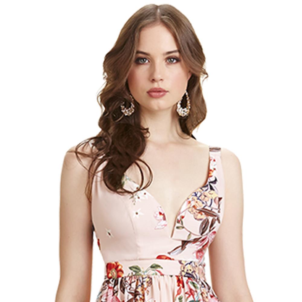 Bryanna vestido largo florar tirantes y escote corazón