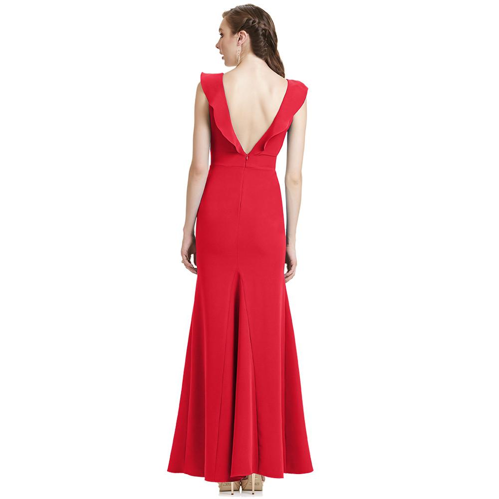 Esther vestido largo escote en V