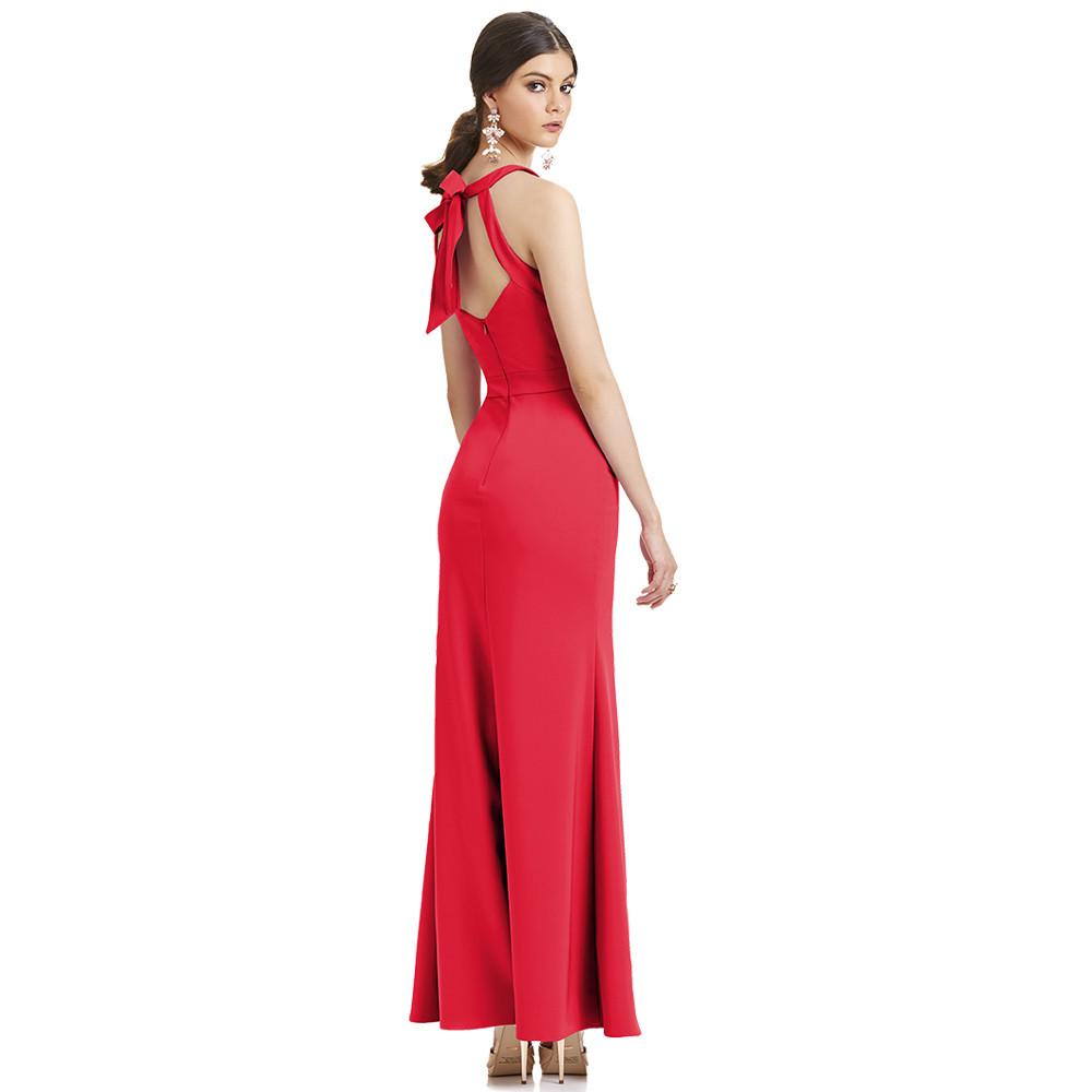 Fiorella vestido largo espalda descubierta